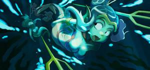 Mermaid ambush by greenlittle