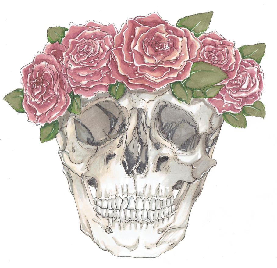 Skull with a crown of roses by food and art on deviantart skull with a crown of roses by food and art izmirmasajfo