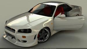 Nissan Skyline GT-R34 by Rookie-