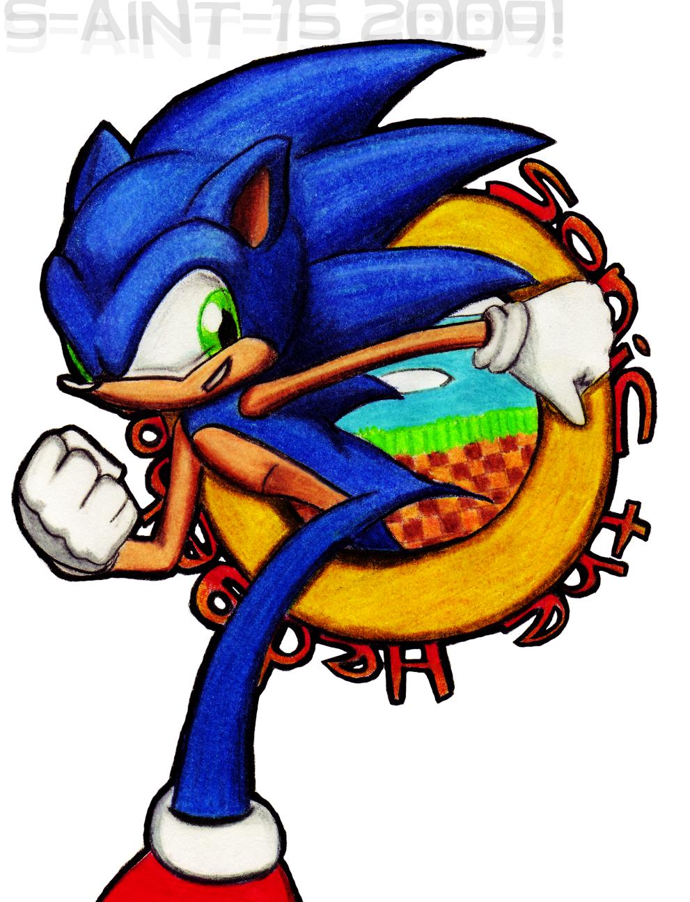 Classic Sonic by theOrangeSunflower