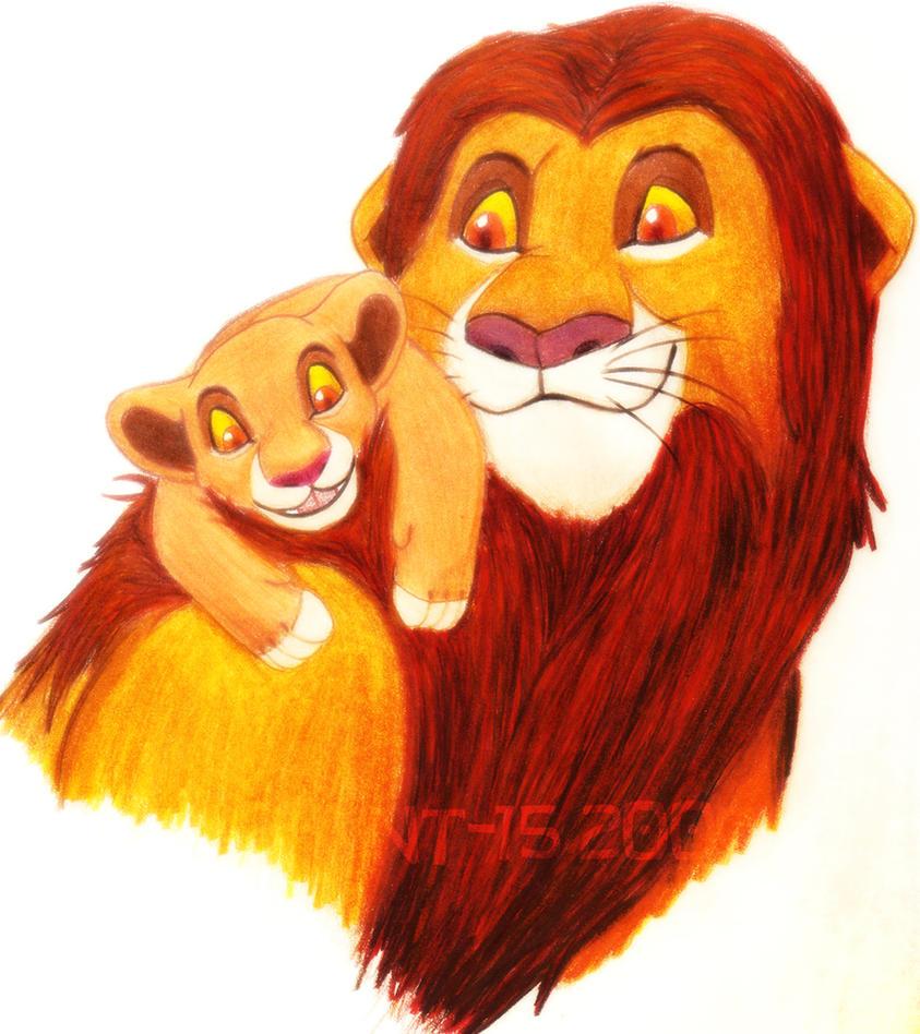 Simba and Kiara by theOrangeSunflower