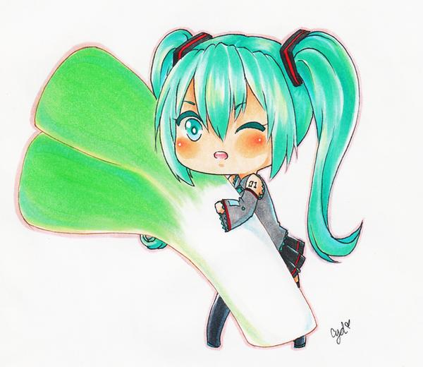 Miku's leek by UchiHaruno