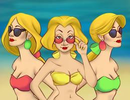 Beach Bimbettes by Samantha-MacLean