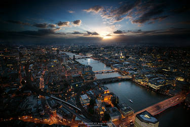 Badass London Sundown by MarcoRibbe-de