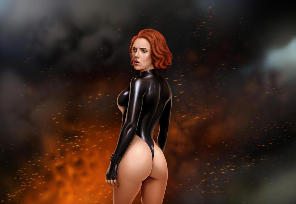 sexy black widow naked