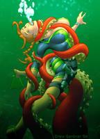 Lara Vs Octopus by DrewGardner