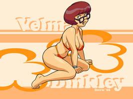 Velma Dinkley bikini desktop by DrewGardner