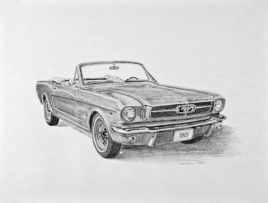 1965 Ford Mustang Sketch By Daniel Storm On Deviantart