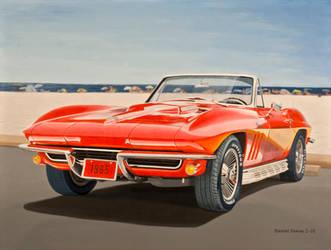 1965 Corvette In Oil by Daniel-Storm