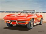 1965 Corvette In Oil