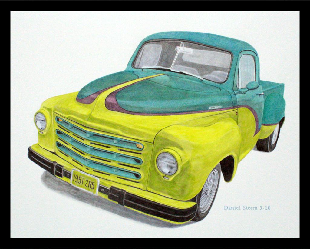 1951 Studebaker Pickup Acrylic by Daniel-Storm
