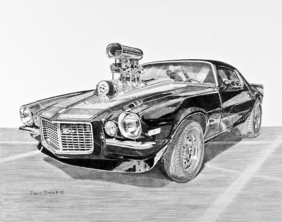 1973 Camaro Z28 Graphite By Daniel Storm On Deviantart
