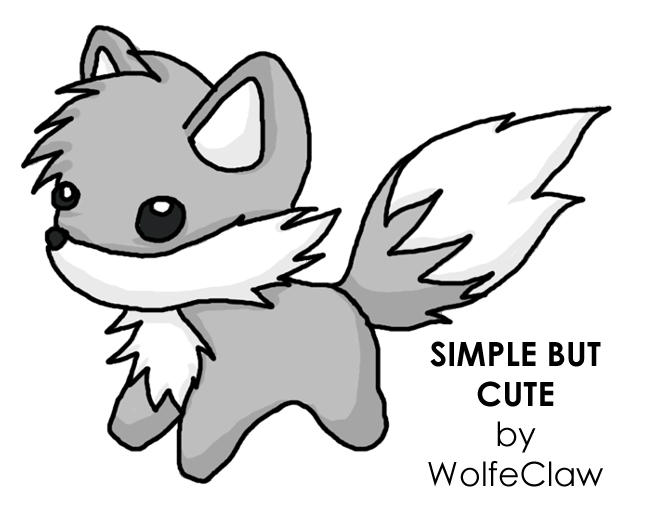 Cute Wolf Drawing Easy Images amp Pictures Becuo