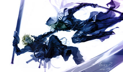Sephiroth And Cloud by TeavyR
