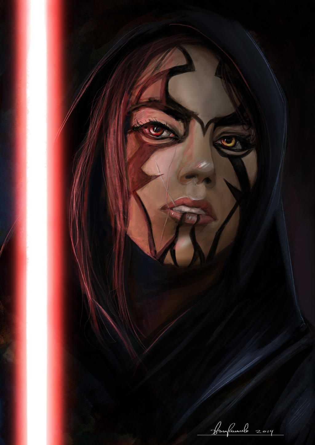 star_wars_girl_sith__sketch__by_padraven