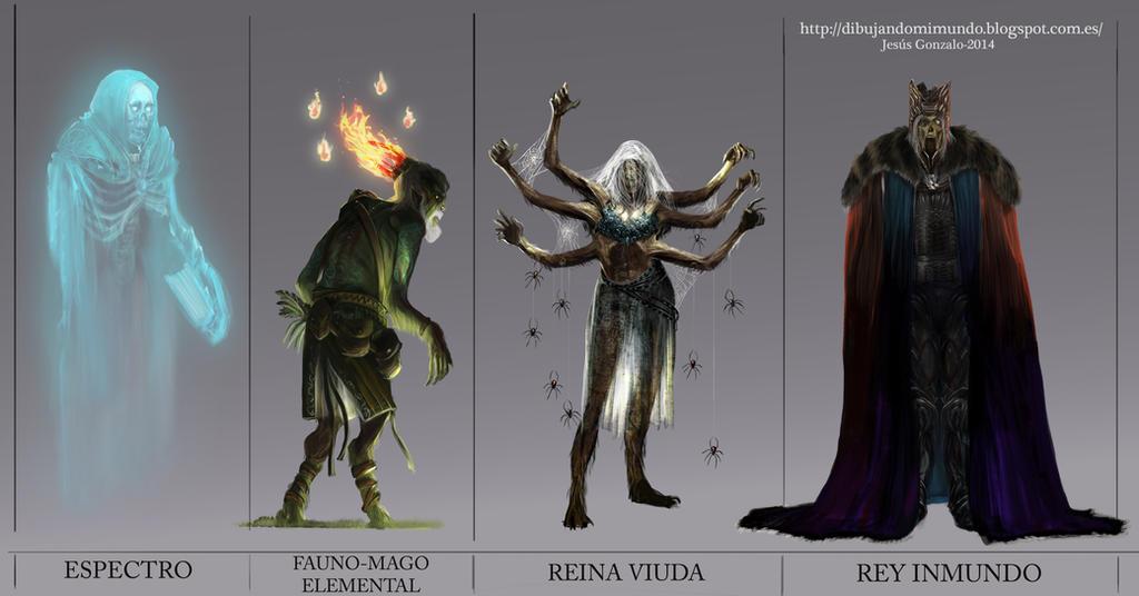 Personajes Malos Diciembre by padraven