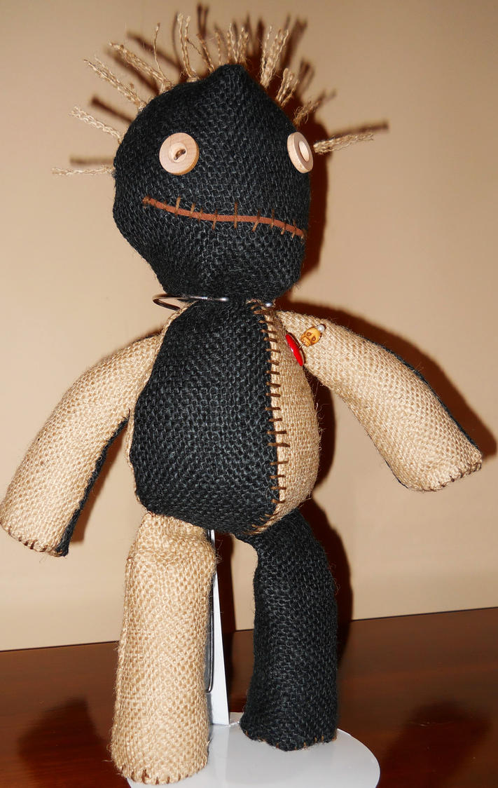 Black and Tan Burlap Voodoo Doll by GhoulieDollies on ...