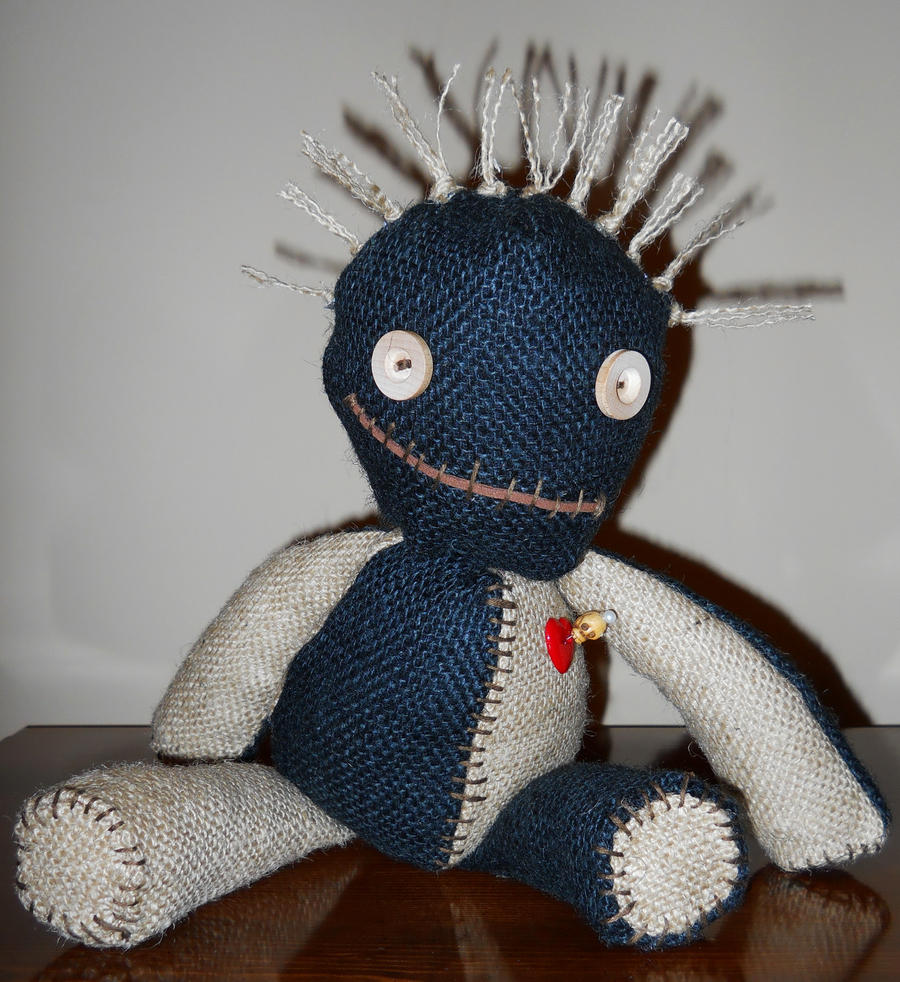 15 inch Black and Tan Burlap Voodoo Doll by GhoulieDollies ...