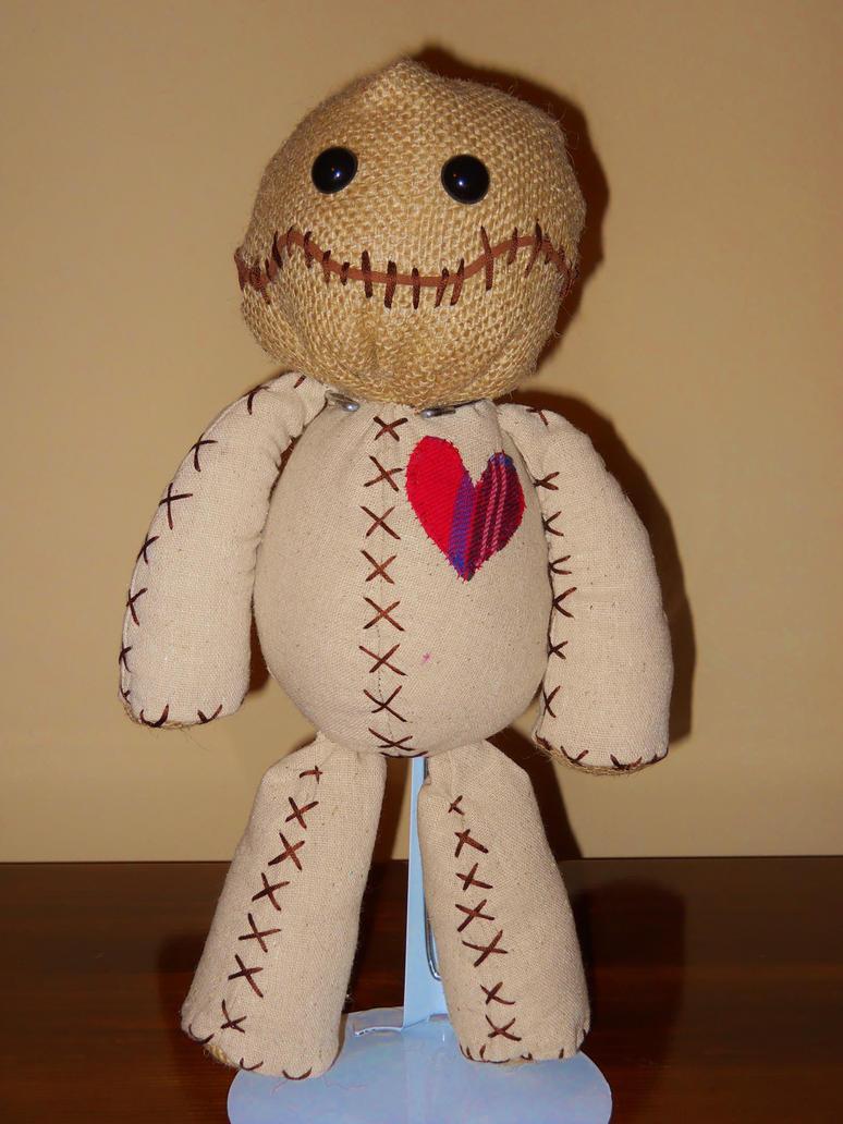 15 Voodoo Doll Linen Fabric Burlap Plastic Eyes By