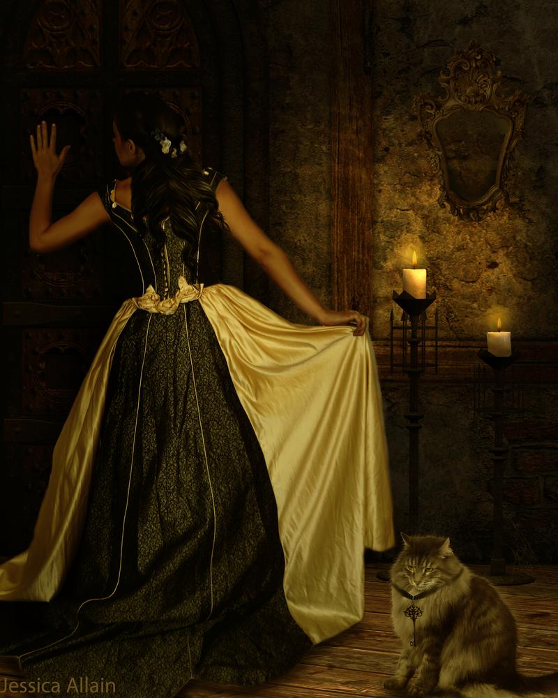Behind the Door by EnchantedWhispersArt