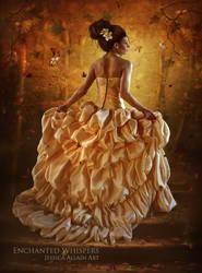 Golden Leaves by EnchantedWhispersArt