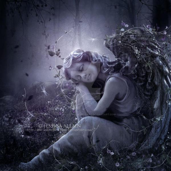 Stone Angel by EnchantedWhispersArt