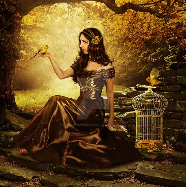 Golden Forest by EnchantedWhispersArt