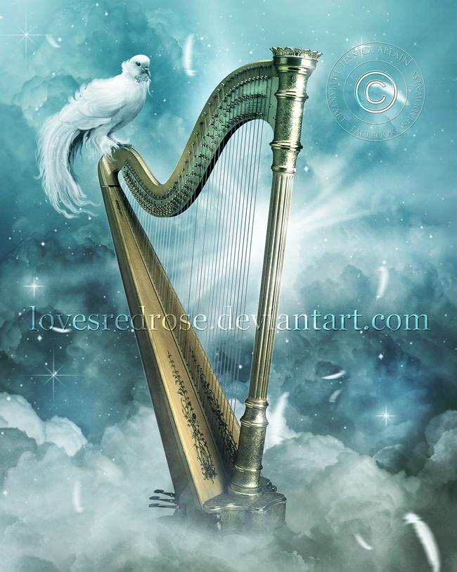 Heaven's Harp by EnchantedWhispersArt