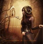 White-Raven by EnchantedWhispersArt