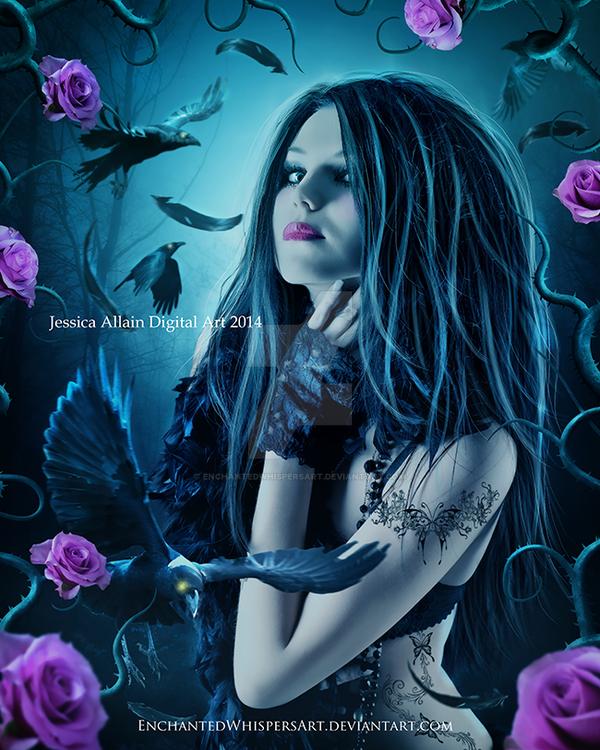 Dark-Feathers by EnchantedWhispersArt