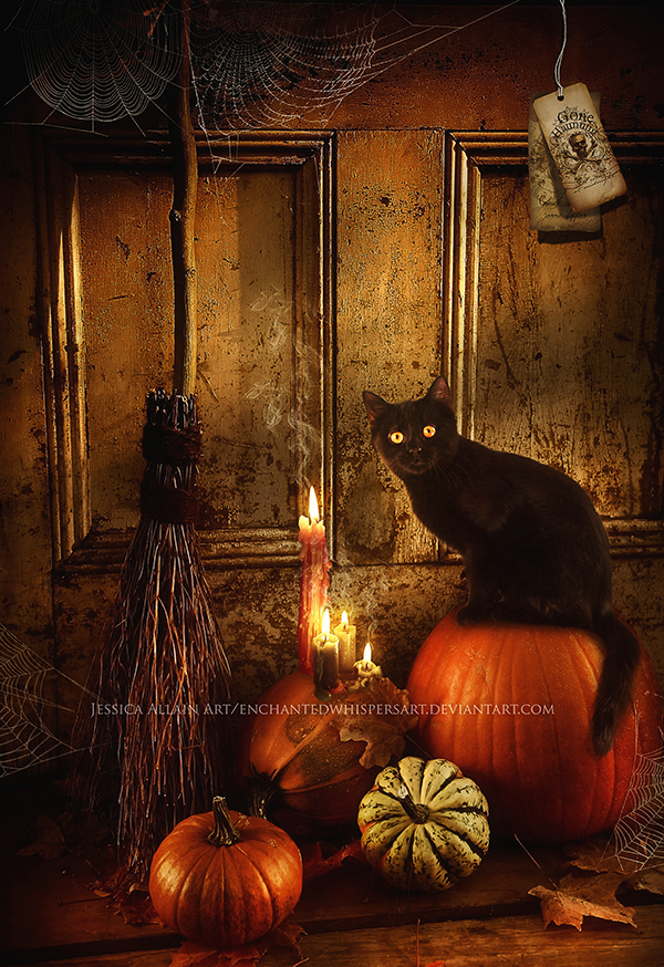 Halloween-Kitty by EnchantedWhispersArt