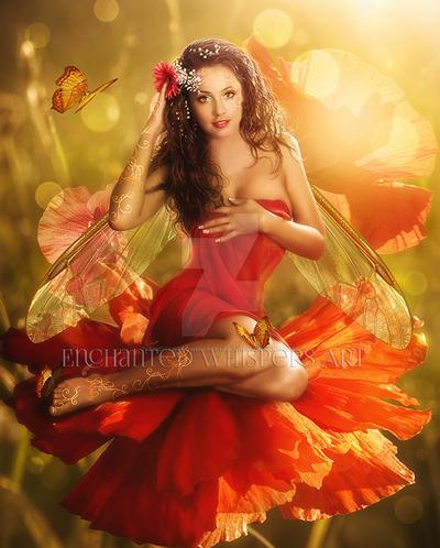 Flower-Fae by EnchantedWhispersArt