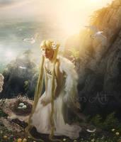 Angelic-Peaks by EnchantedWhispersArt
