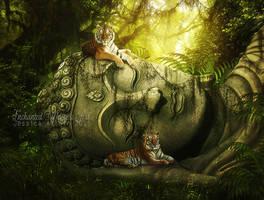 Resting-Buddhas by EnchantedWhispersArt