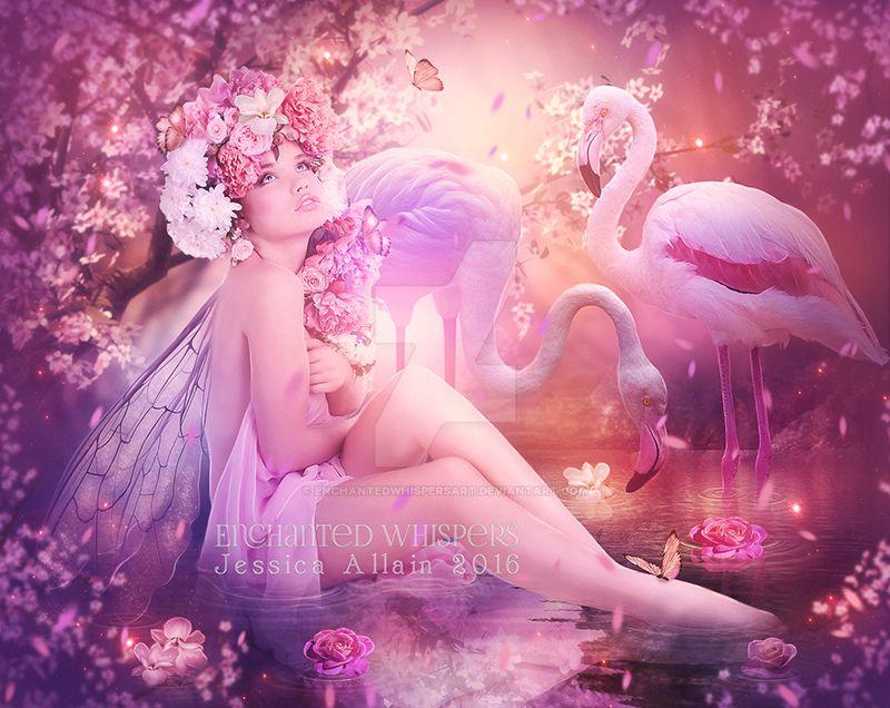 Flamingo by EnchantedWhispersArt