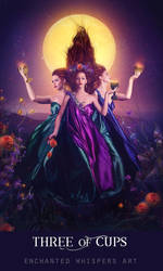 Three of Cups by EnchantedWhispersArt