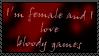 Female Gamer Who Loves Blood by Kikyo1239