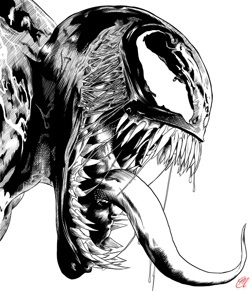 Inked Venom Poster By Cmartworkxl On Deviantart