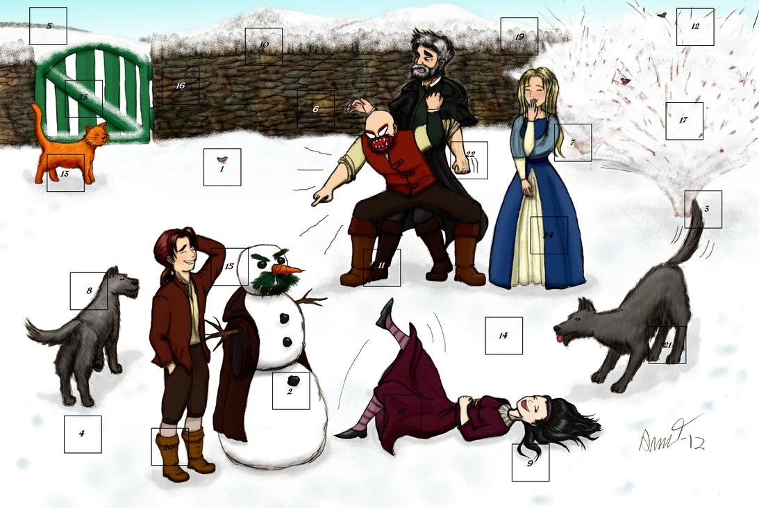 The Spook's Advent Calendar - Cover by Xmas-freak-hikaru