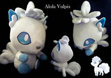 Alola Vulpix Plush by threadsie