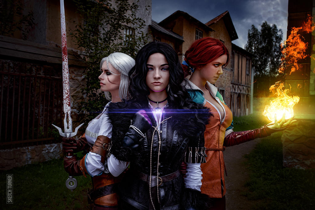 Yennefer, Triss and Ciri by Astrid-96 on DeviantArt