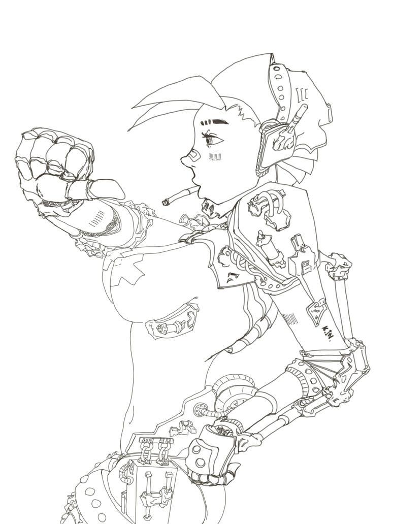 ExoSuit Girl by penrush
