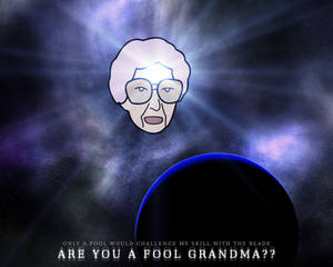 worfpaper grandma head