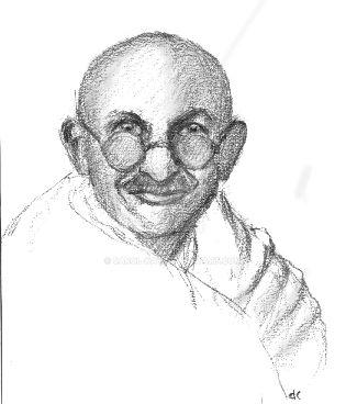 Gandhi4 by Carol-Kay