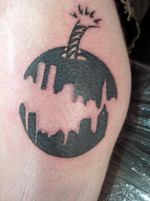 City skyline cherry bomb by robertmeyerstattoos on deviantart for Cherry bomb tattoo parlor perth