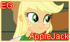 Equestria Girls AppleJack Stamp by NatouMJSonic