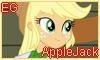 Equestria Girls AppleJack Stamp by NatouMJSonic