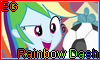Equestria Girls Rainbow Dash Stamp by NatouMJSonic