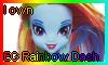 EG Rainbow Dash Doll Stamp by NatouMJSonic