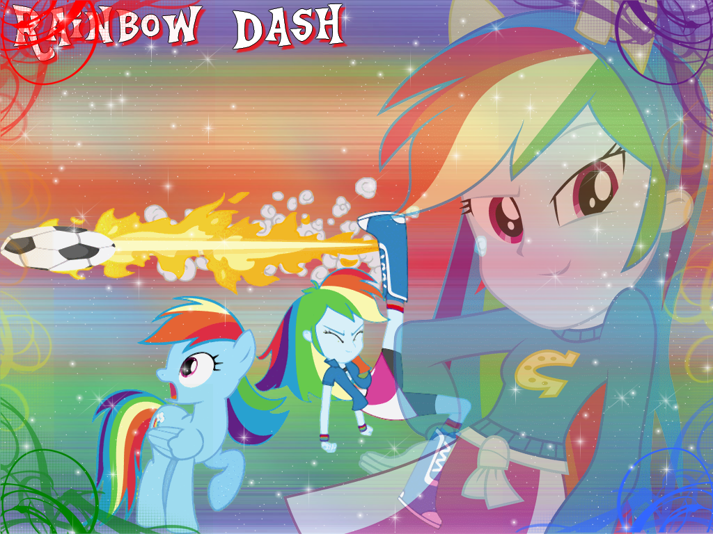 Rainbow Dash Wallpaper By Natoumjsonic On Deviantart